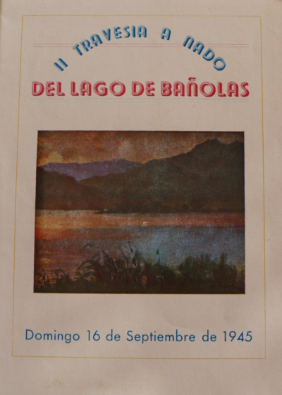 1945 Cartell 2 2a Travessia Estany Banyoles