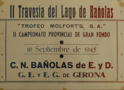1945 Cartell 2a Travessia Estany Banyoles