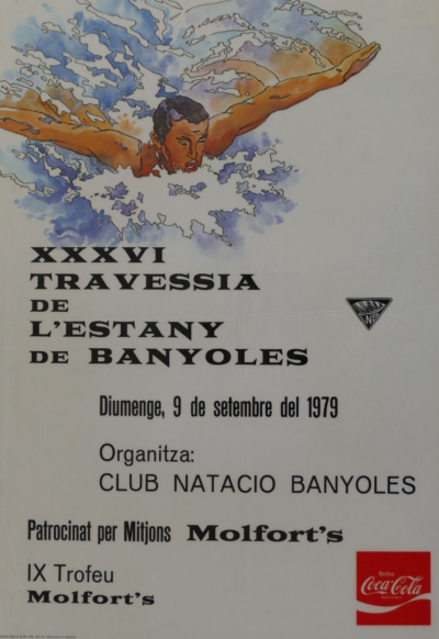 1979 Cartell 36a Travessia Estany Banyoles