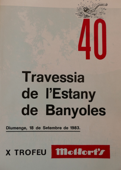 1983 Cartell 40a Travessia Estany Banyoles