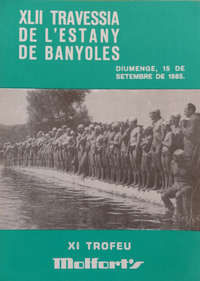 1985-Cartell-42a-Travessia-Estany-Banyoles