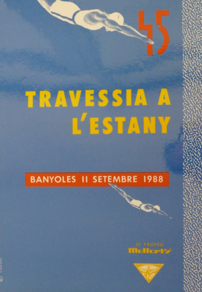 1988 Cartell 45a Travessia Estany Banyoles
