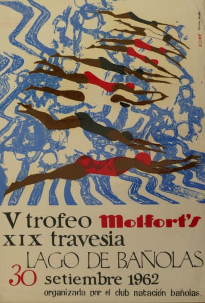 Cartell-1962-Travessia-Estany-Banyoles